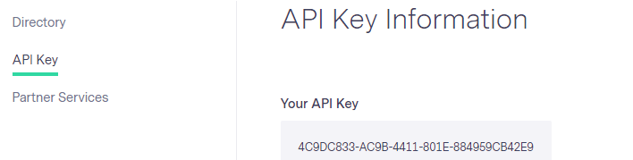 Benchmark's API Key for Replug