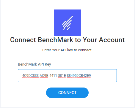 BenchMark API Key- Replug Connection