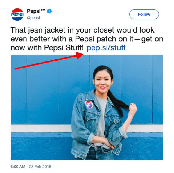 pepsi branded link