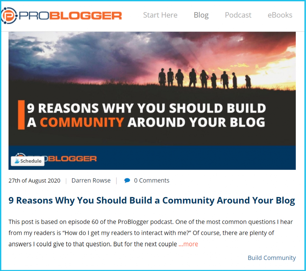 build community with content