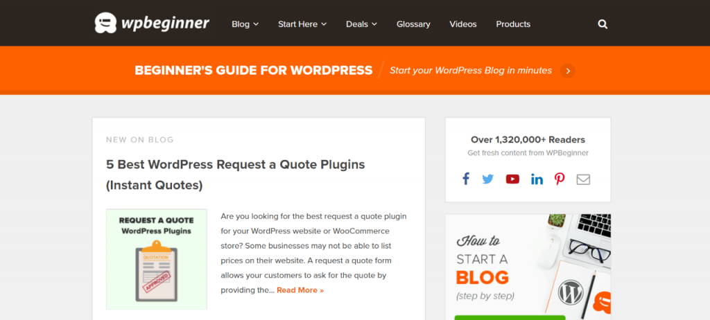 wp beginner wordpress content blog