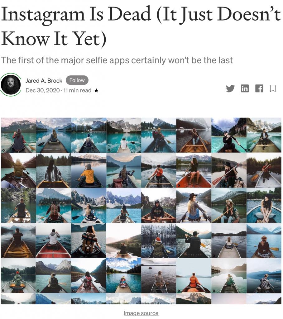Instagram is dead