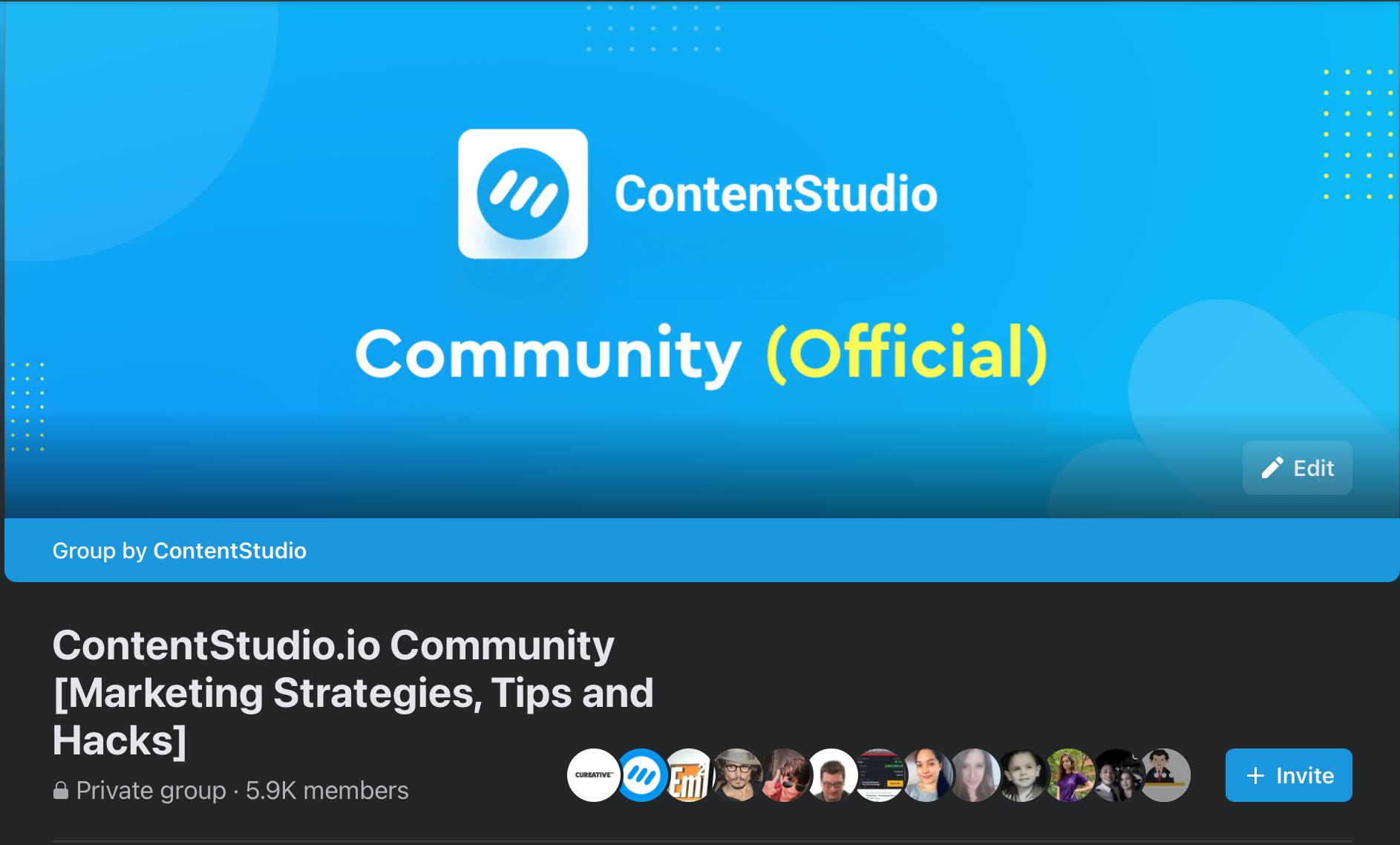 contentstudio fb community