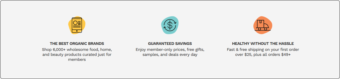 discounted price offers by Thrive Market