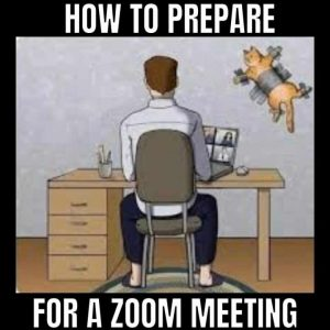 prepare for a zoom meeting