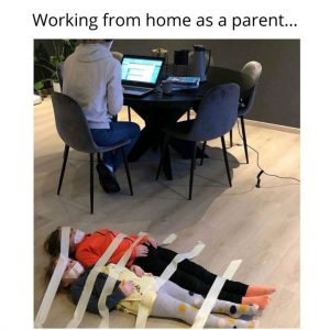 working from home as parent